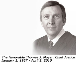 The Honorable Thomas J. Moyer, Chief Justice, January 1, 1987 - April 2, 2010
