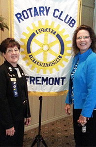 Image of Fremont Rotary Club President Cheryl Cotter and Ohio Supreme Court Justice Sharon L. Kennedy