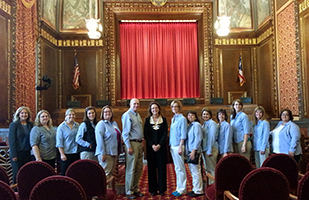 Ohio Supreme Court Justice Sharon L. Kennedy with a group of members of the Leadership Muskingum
