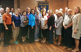 Image of Ohio Supreme Court Justice Sharon L. Kennedy with members of the Waterville Rotary Club